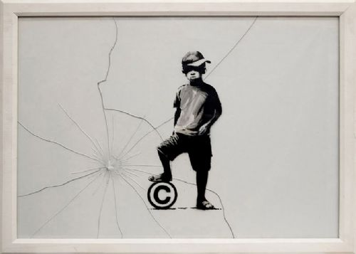 BANKSY - COPYRIGHT canvas print - self adhesive poster - photo print